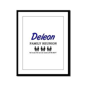 Deleon Family Reunion Framed Panel Print