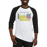 Periodic table Baseball Tees