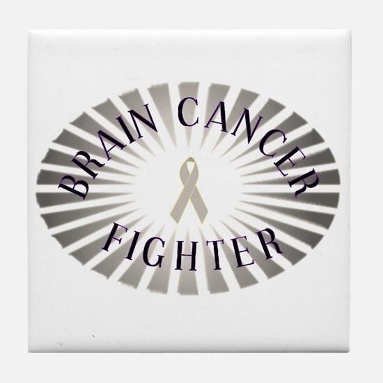 BRAIN CANCER FIGHTER Tile Coaster
