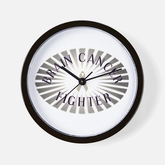 BRAIN CANCER FIGHTER Wall Clock