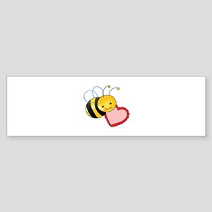 BEE WITH HEART Bumper Sticker