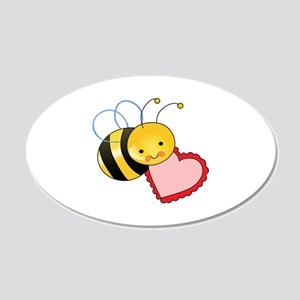 BEE WITH HEART Wall Decal