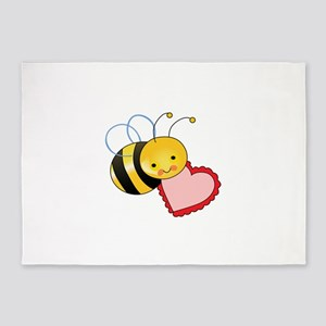 BEE WITH HEART 5'x7'Area Rug