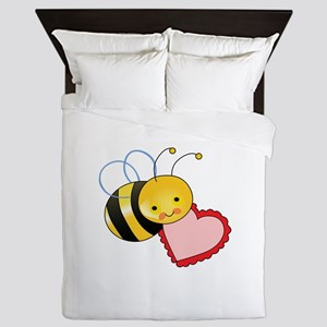 BEE WITH HEART Queen Duvet