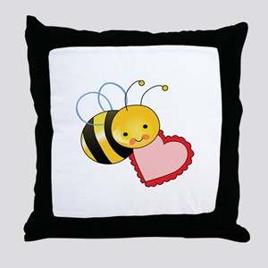 BEE WITH HEART Throw Pillow