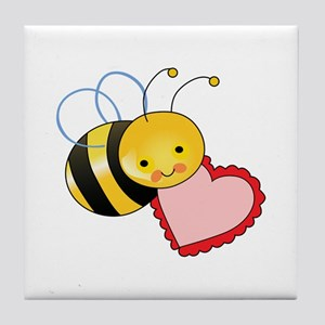 BEE WITH HEART Tile Coaster