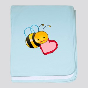BEE WITH HEART baby blanket