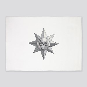 Skulls and Sun 5'x7'Area Rug