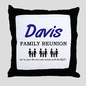 Davis Family Reunion Throw Pillow