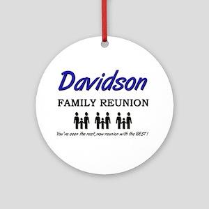 Davidson Family Reunion Ornament (Round)