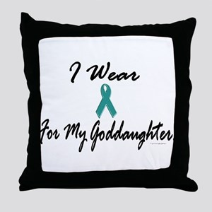 I Wear Teal For My Goddaughter 1 Throw Pillow