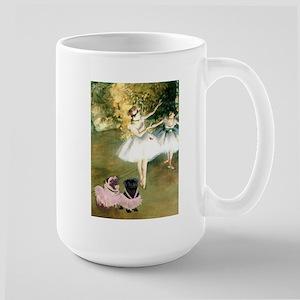 Degas Dancers & Pug Pair in Tutus Large Mug