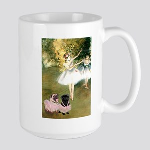Degas Dancers & Pug Pair in Tutus Large Mug
