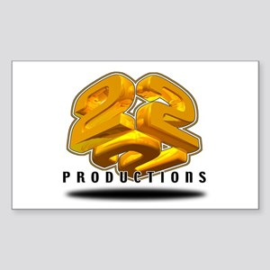 222 PRODUCTIONS Rectangle Sticker