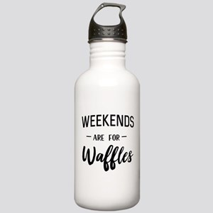 Weekends are for waffles Water Bottle