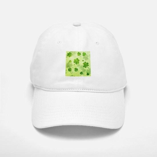 Green Shamrock Pattern Baseball Baseball Cap