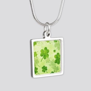 Green Shamrock Pattern Necklaces