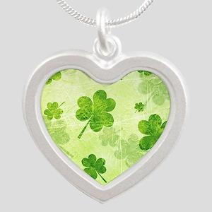 Green Shamrock Pattern Necklaces
