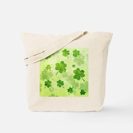 Green Shamrock Pattern Tote Bag