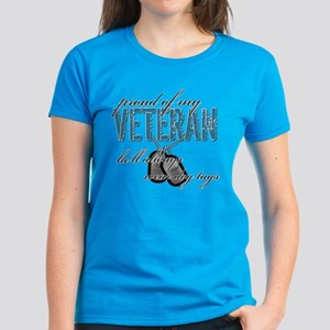 Proud Of My Veteran Women's Dark T-Shirt