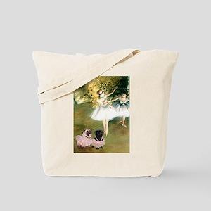 Degas Dancers & Pug Pair in Tutus Tote Bag