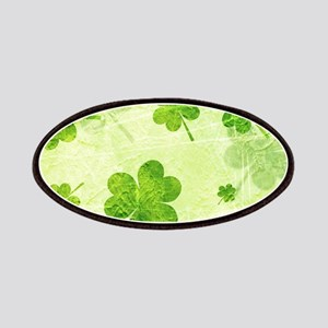 Green Shamrock Pattern Patches