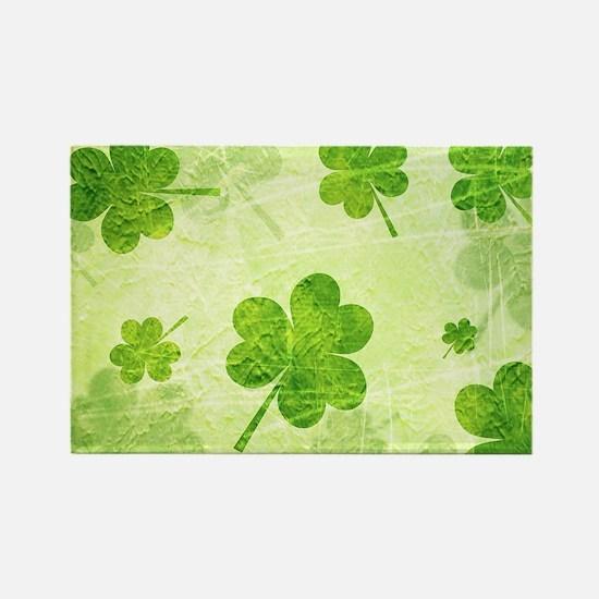 Green Shamrock Pattern Magnets