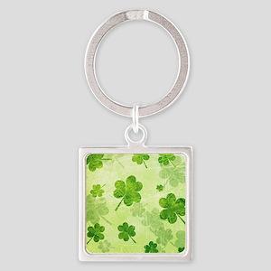 Green Shamrock Pattern Keychains