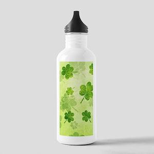 Green Shamrock Pattern Stainless Water Bottle 1.0L