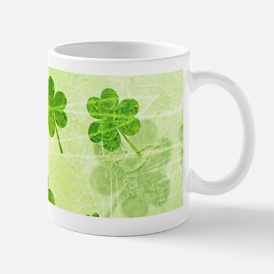 Green Shamrock Pattern Mugs
