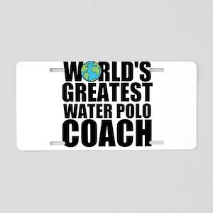 World's Greatest Water Polo Coach Aluminum Lic