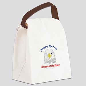 HOME OF THE FREE Canvas Lunch Bag