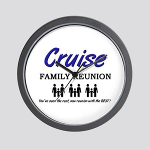 Cruise Family Reunion Wall Clock