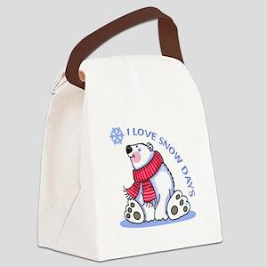 I LOVE SNOW DAYS Canvas Lunch Bag