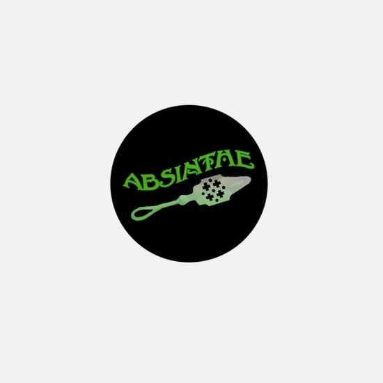Absinthe Spoon Black Mini Button