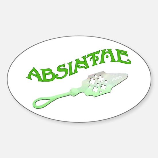 Absinthe Spoon Oval Decal