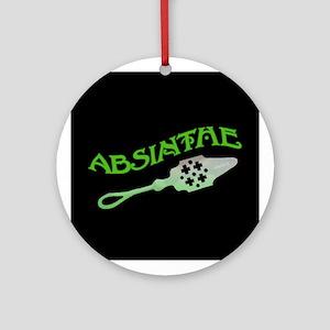 Absinthe Spoon Black Ornament (Round)
