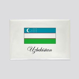Uzbekistan - Flag Rectangle Magnet