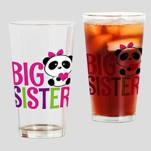 Panda Big Sister Drinking Glass