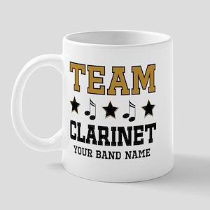 Team Clarinet Personalized Music Mugs