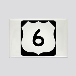 US Route 6 Rectangle Magnet