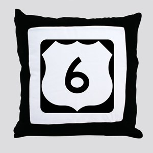 US Route 6 Throw Pillow