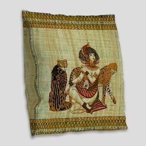 Cleopatra 6 Burlap Throw Pillow