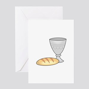 WINE AND BREAD Greeting Cards