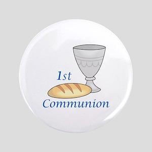 "FIRST COMMUNION 3.5"" Button"