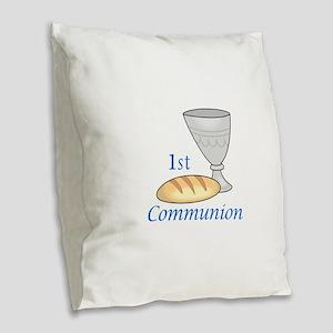 FIRST COMMUNION Burlap Throw Pillow