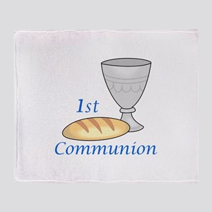 FIRST COMMUNION Throw Blanket