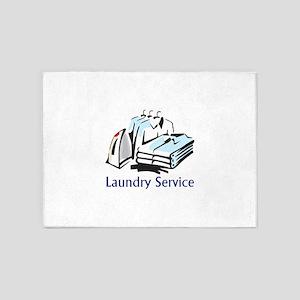 LAUNDRY SERVICE 5'x7'Area Rug