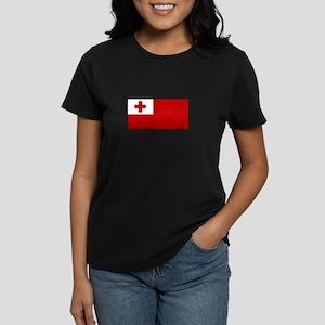 Tonga - Flag Women's Dark T-Shirt
