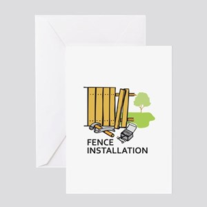 FENCE INSTALLATION Greeting Cards